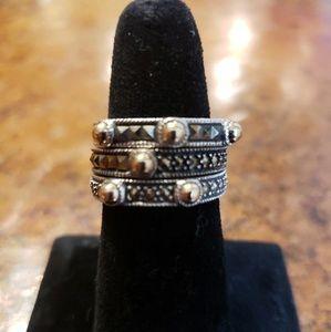 Beautiful Judith Jack Sterling Stacking Rings